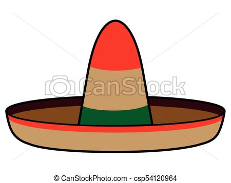450x357 Isolated Mexican Hat Image Vector Illustration Design Clip Art