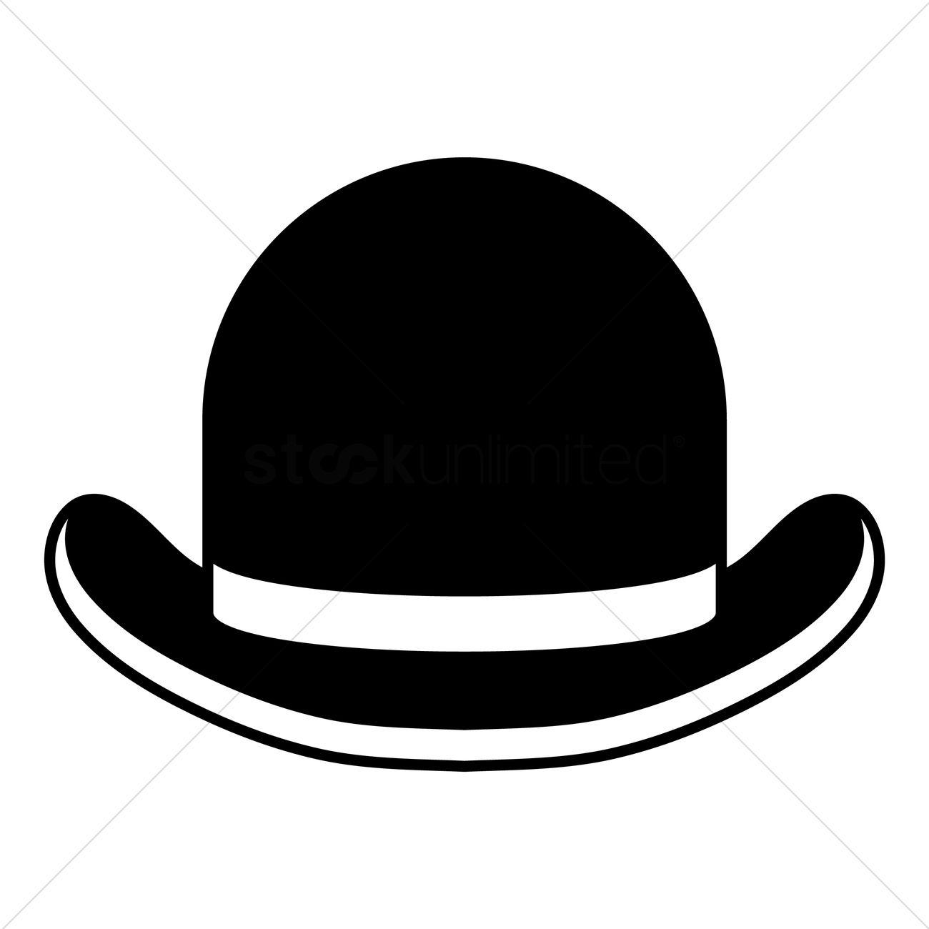 1300x1300 Bowler Hat Vector Image
