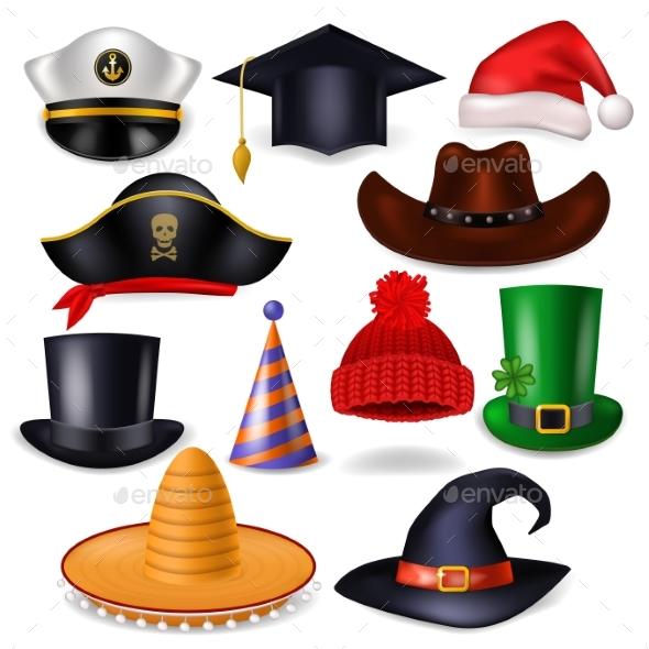 590x590 Cartoon Hat Vector Comic Cap For Celebrating By Vectoristik