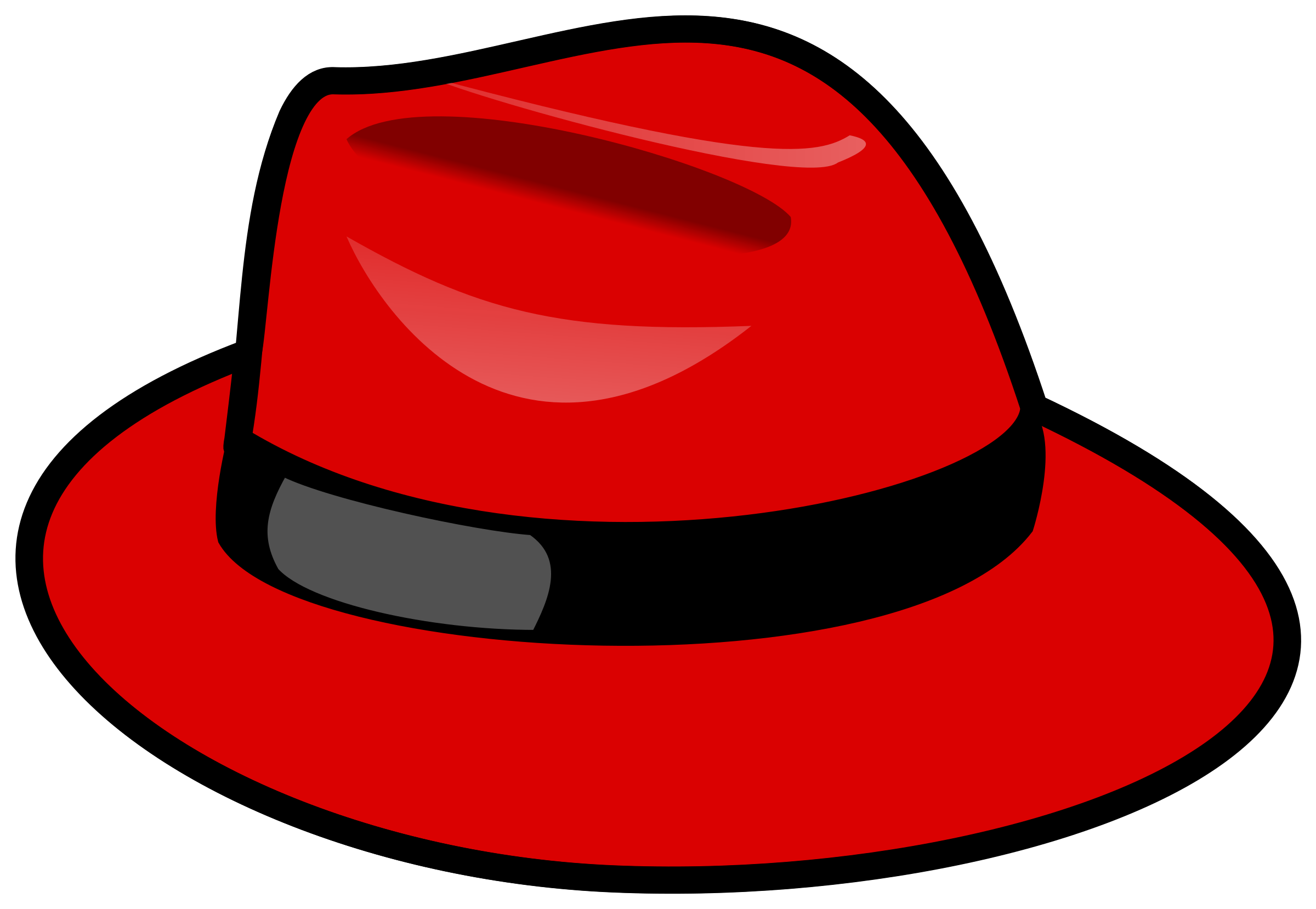 2400x1658 Red Fedora Hat Vector Clipart Image