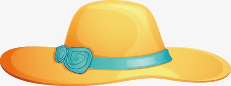 470x176 Vector Hand Painted Beach Hat, Vector, Hand Painted, Beach Hat Png