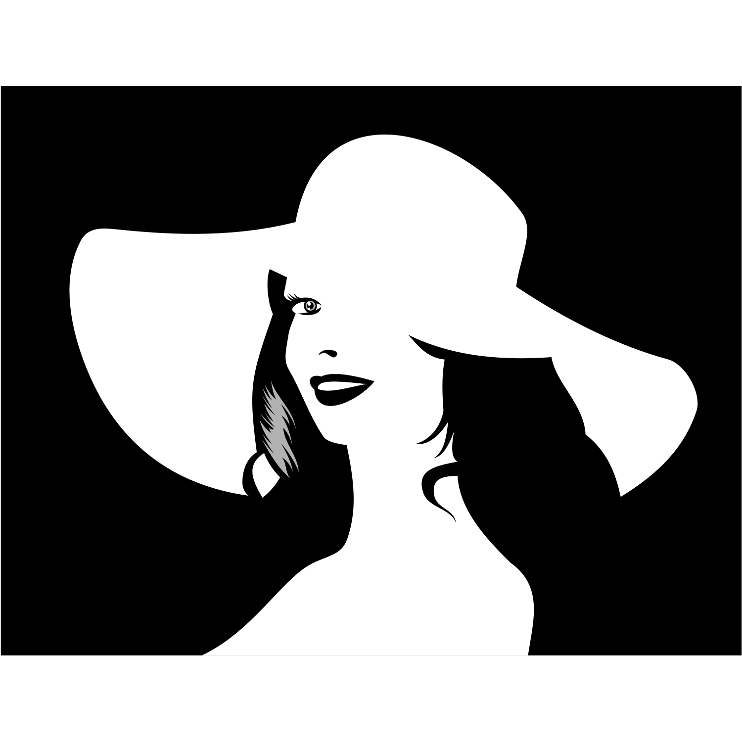 1500x1500 Vector For Free Use Girl In Hat Vector
