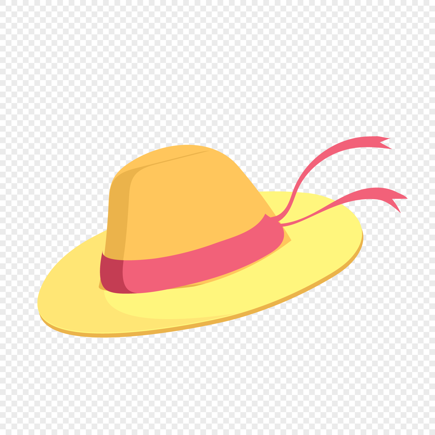 1520x1520 Cartoon Straw Hat Vector Material Png Image Picture Free Download