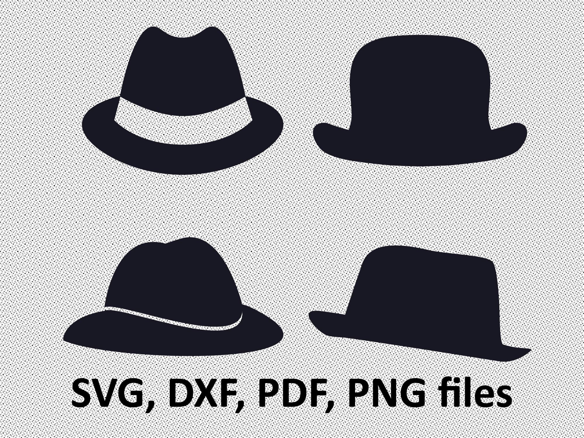 2000x1500 Classic Hat Svg File Hat Clipart Hat Silhouette File Cricut Etsy