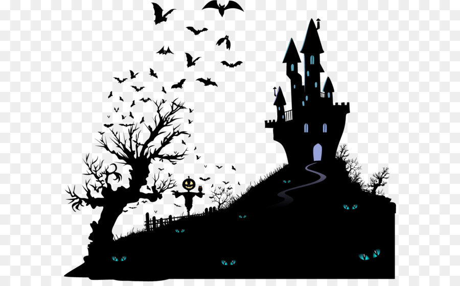 Halloween Vector Black And White.Haunted House Vector At Getdrawings Com Free For Personal Use