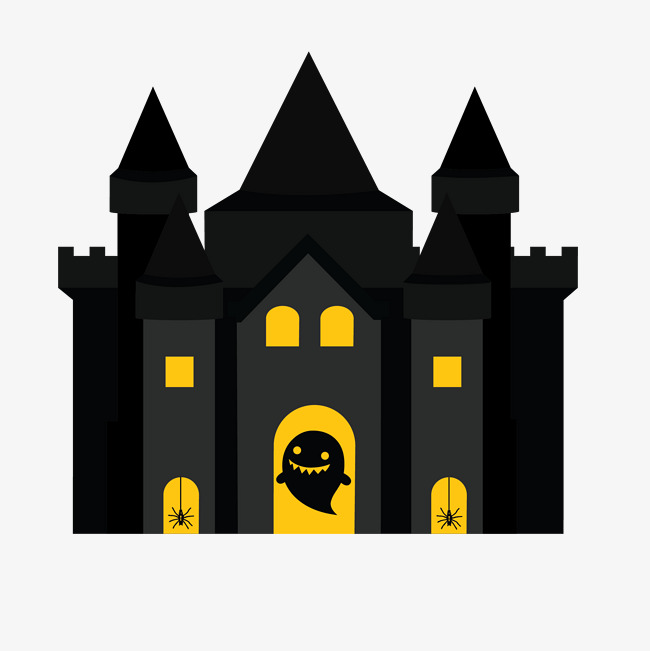 650x651 Vector Haunted House, House Vector, Hand Painted Haunted House Png