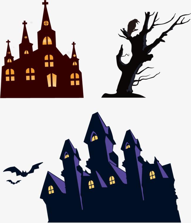 650x759 Vector Haunted House Bat, House Vector, Bat Vector, Haunted House