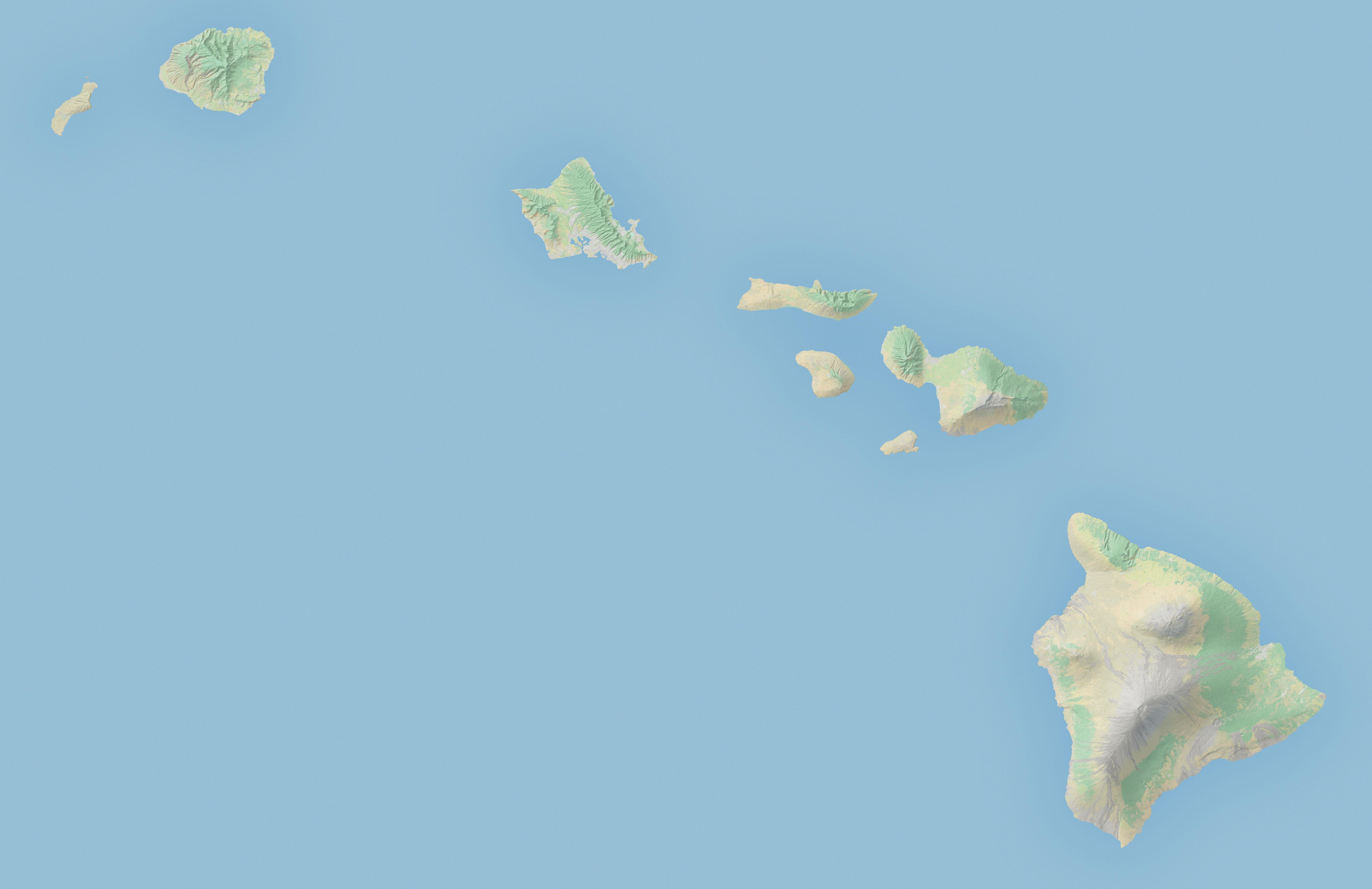 Hawaii Map Vector