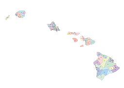 255x180 Preview Of Hawaii Zip Code Vector Map Ai, Pdf