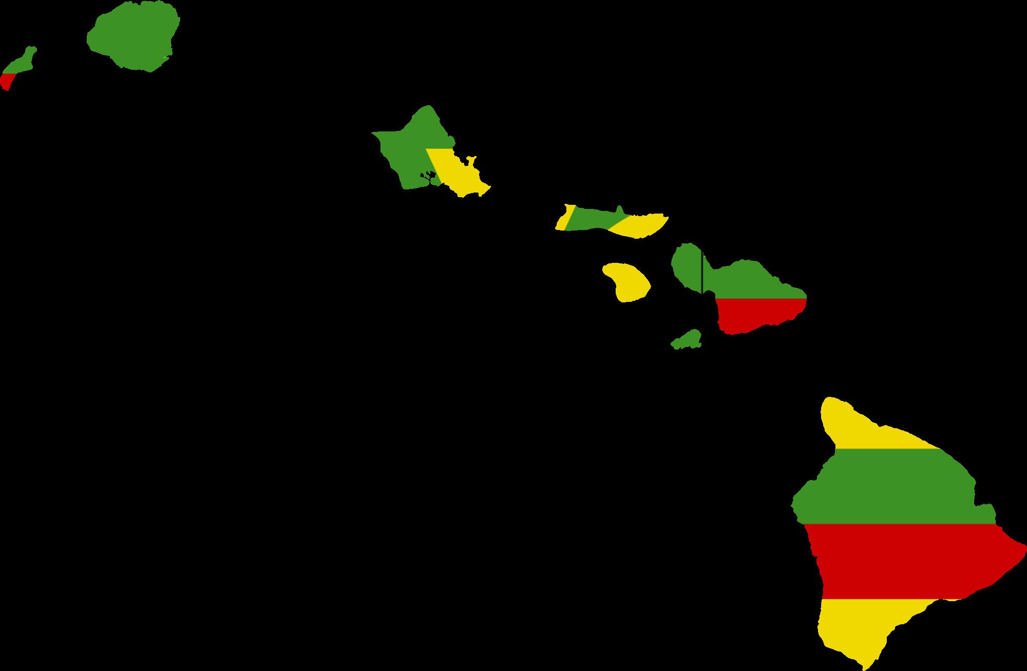Hawaiian Islands Vector