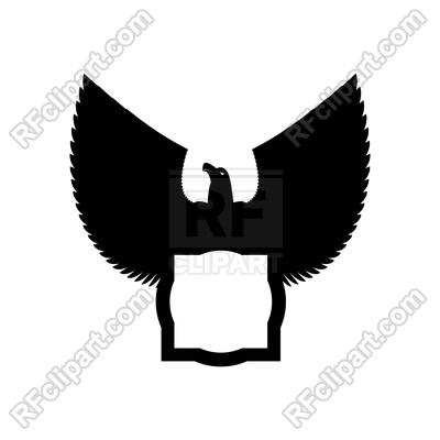 400x400 Eagle Emblem Template. Hawk Symbol. Vector Image Vector Artwork