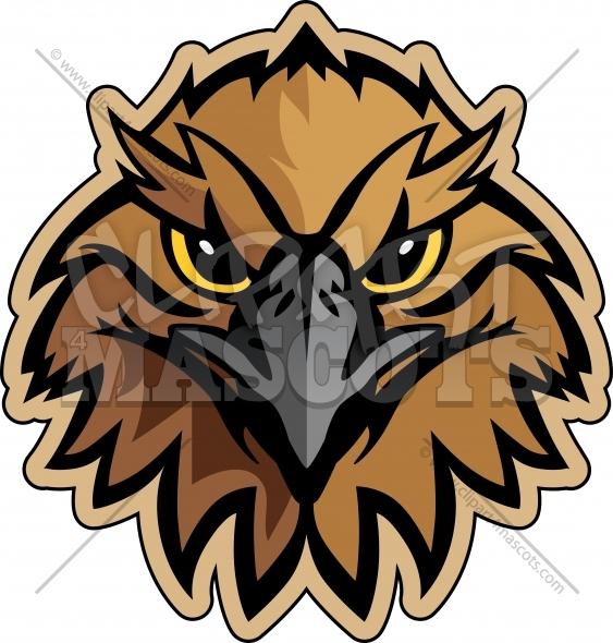 563x590 Hawk Mascot Logo Graphic Vector Logo