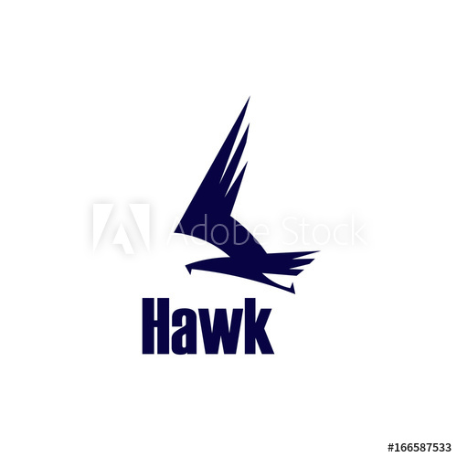 500x500 Hawk Vector Logo Template