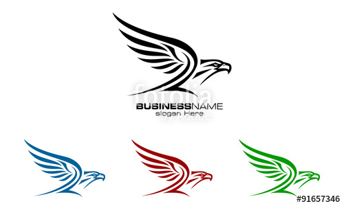 500x300 Eagle, Hawk, Phoenix, Vector, Logo, Design, Stock Image And