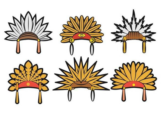 632x443 Indian Headdress Vector Free Vector Download 404841 Cannypic