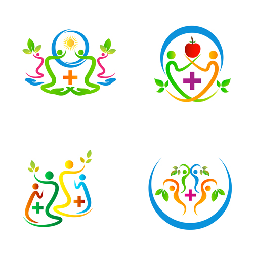 500x500 Health Care Family Abstract Logos Vector Free Download