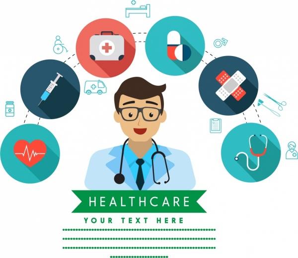 600x520 Healthcare Background Doctor Icon Medical Symbols Isolation Free