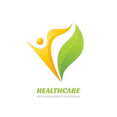 450x450 Healthcare Vector Logo Concept Illustration. Health Logo Sign