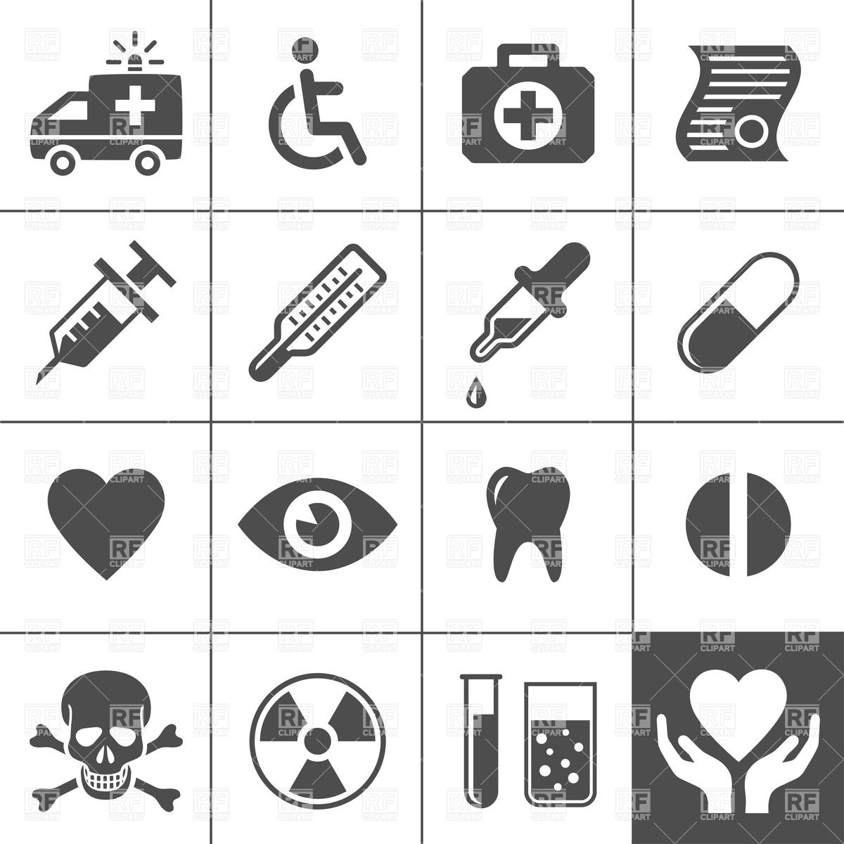1200x1200 Medical And Health Care Simple Icon Set Vector Image Vector