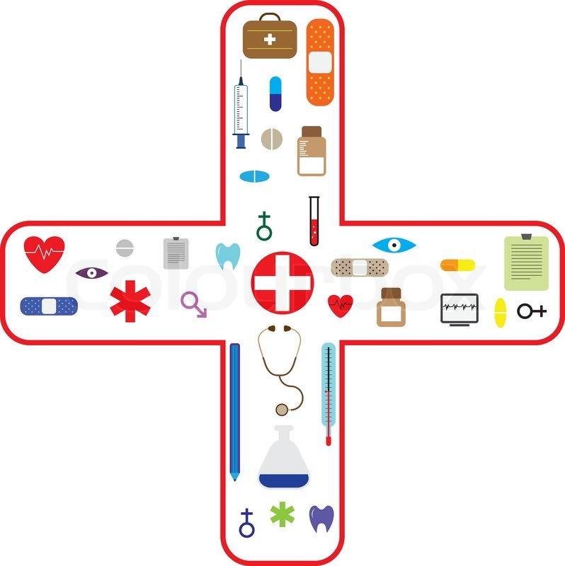 798x800 Medical Icon Set For Health Care Industry Stock Vector Colourbox