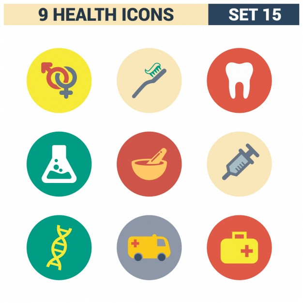 626x626 Health Care Icon Set Vector Free Download