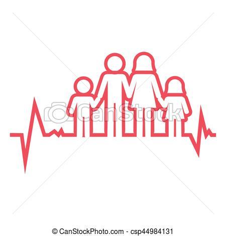 450x470 Family Health Care Icon Vector Illustration Design.