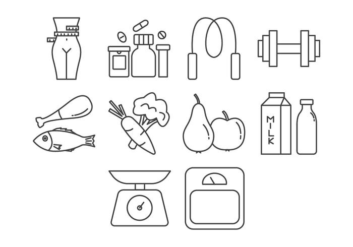 700x490 Fitness And Health Icon Vector