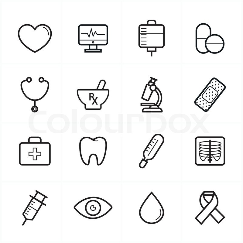 800x800 Flat Line Icons For Medical Icons And Health Icons Vector