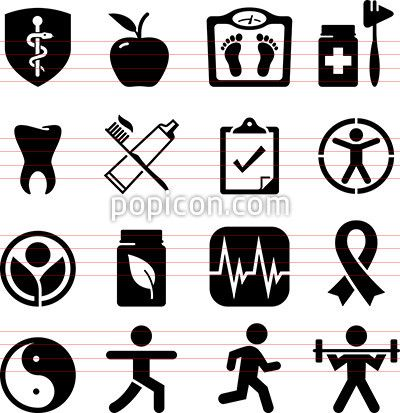 400x413 Health Icon Vector 174 Best Vector Icon Sets Images
