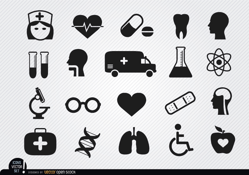 840x593 20 Medical And Health Icons