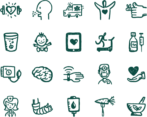 475x379 Healthy Icons 260 Medical Vector Icons