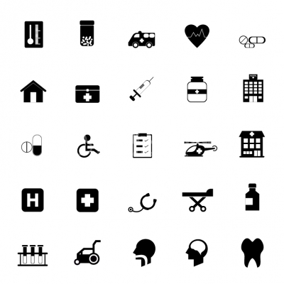 400x400 Medical And Healthcare Icons