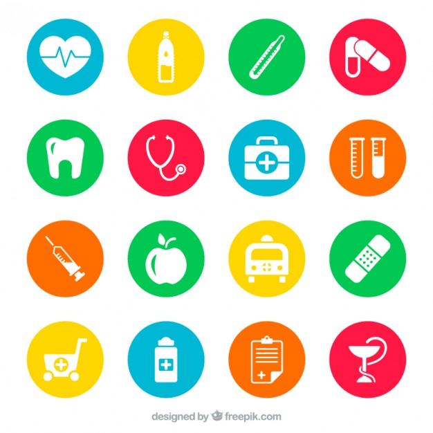 626x626 Medical Icons Vector Free Download