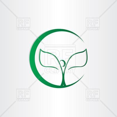 400x400 Plant Leaves Bio Health Icon Vector Image Vector Artwork Of