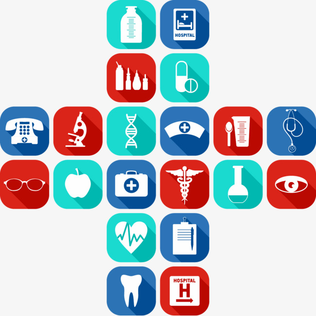 650x651 Vector Painted Flat Health Icon Medical Technology, Health Vector