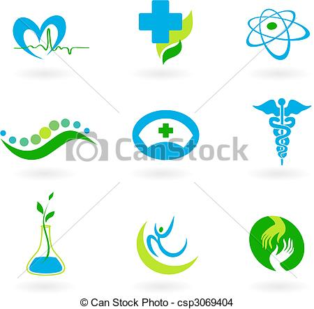 450x443 Collection Of Medical Icons. A Set Of Icons