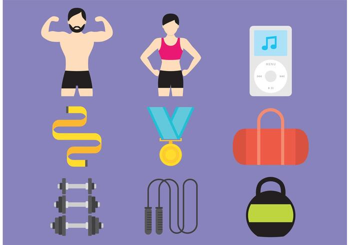700x490 Gym And Health Vector Icons