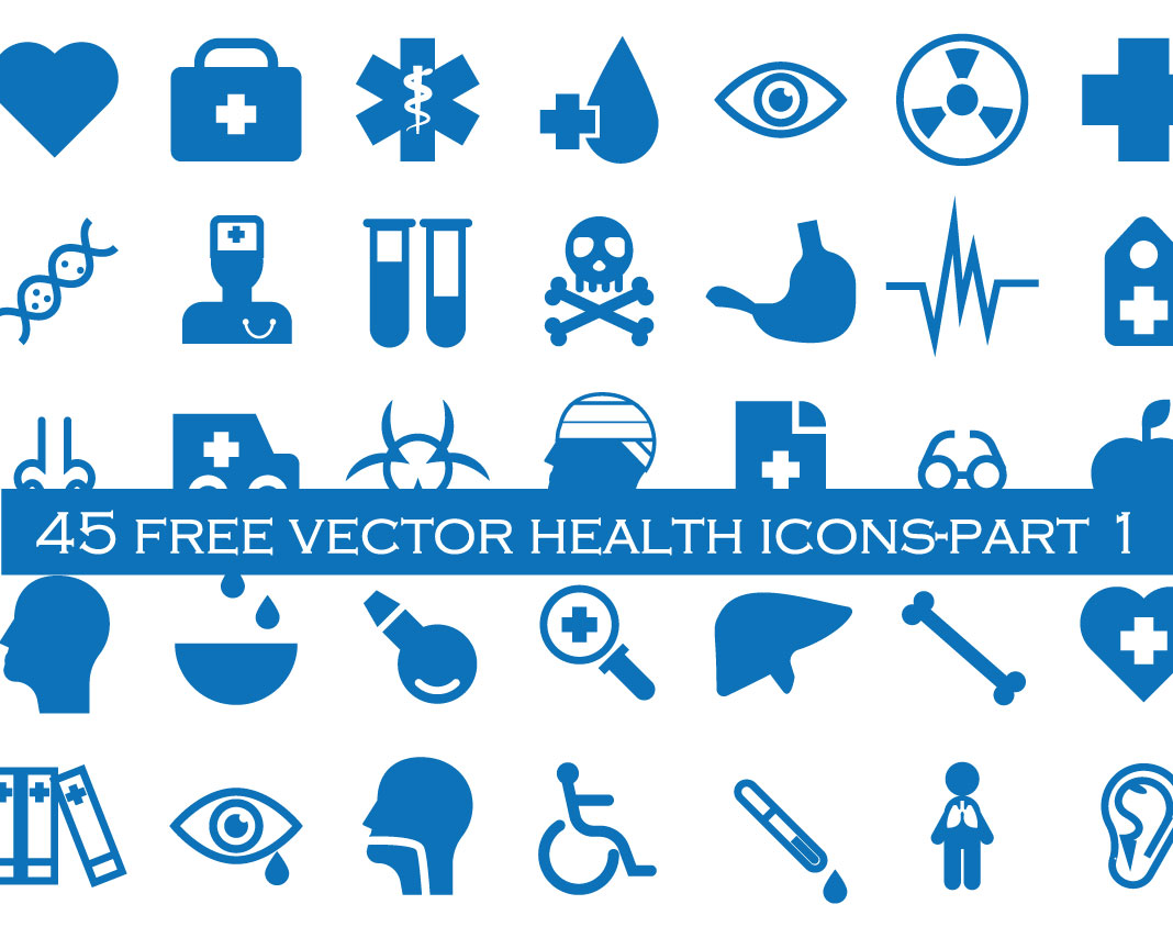 1068x854 45 Free Health And Medical Icons Vector Freebies, Illustrator