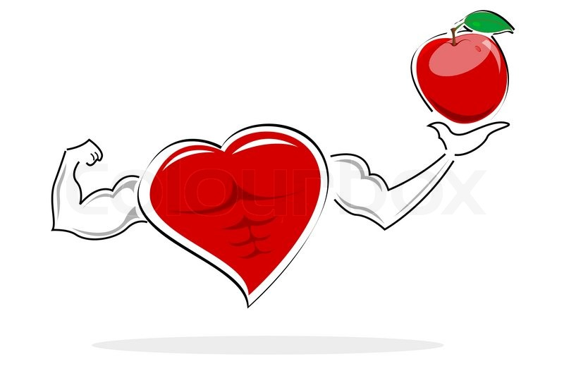 800x533 Illustration Of Health Card With Apple On White Background Stock