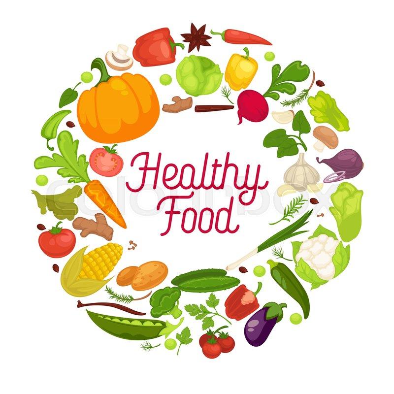 800x800 Vegetables Healthy Food Poster Of Organic Veggie, Fresh Healthy