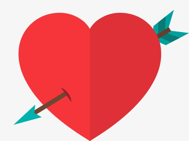650x487 Hearts, Arrow, Flat Vector Png And Vector For Free Download