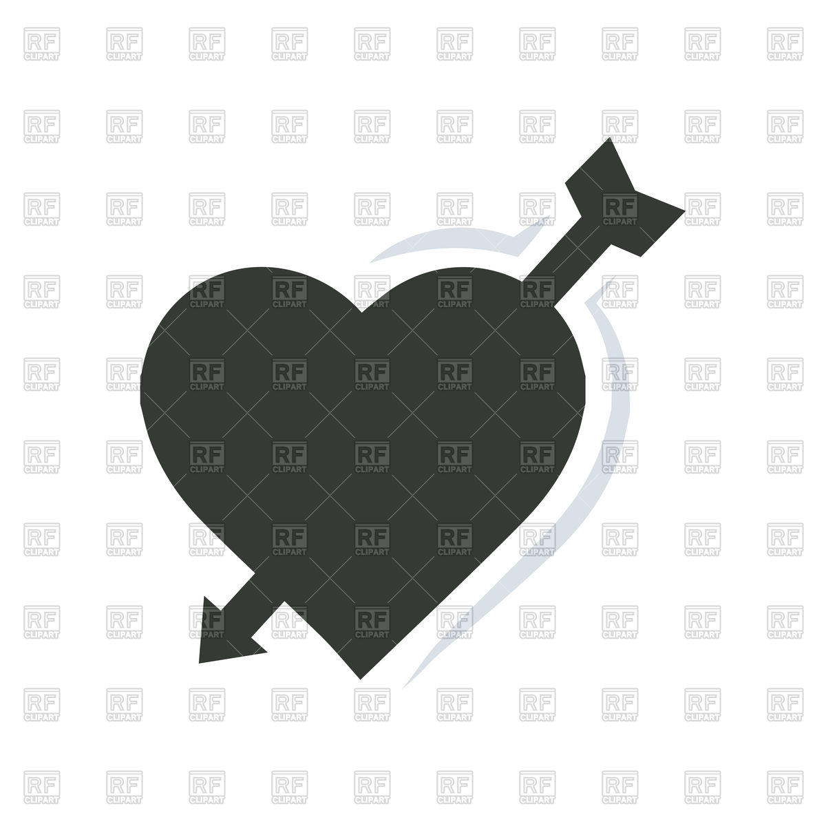 1200x1200 Valentines Heart With Arrow Vector Image Vector Artwork Of Icons