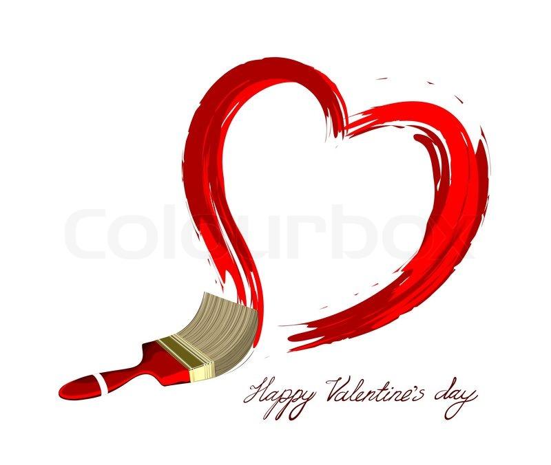 800x676 Creative Heart Vector Illustration Love Design Stock Vector