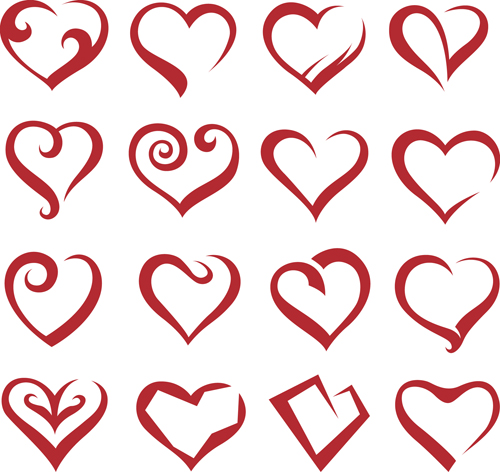 500x472 Different Heart Icons Design Vector Set 04 Free Download
