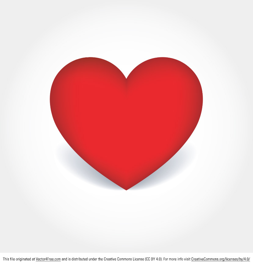 829x869 Free Simple Heart Vector