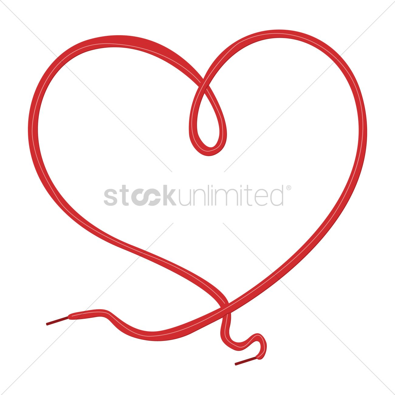 1300x1300 Heart Design With Shoe Lace Vector Image