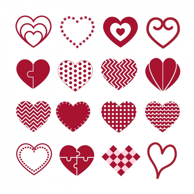 626x626 Heart Designs Collection Vector Free Download