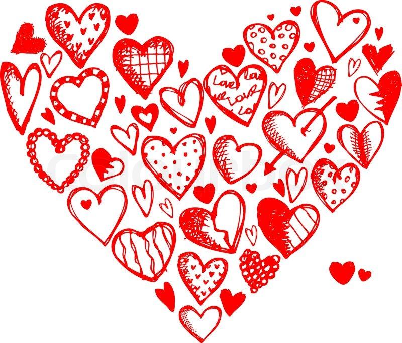 800x684 Valentine Hearts For Your Design Stock Vector Colourbox