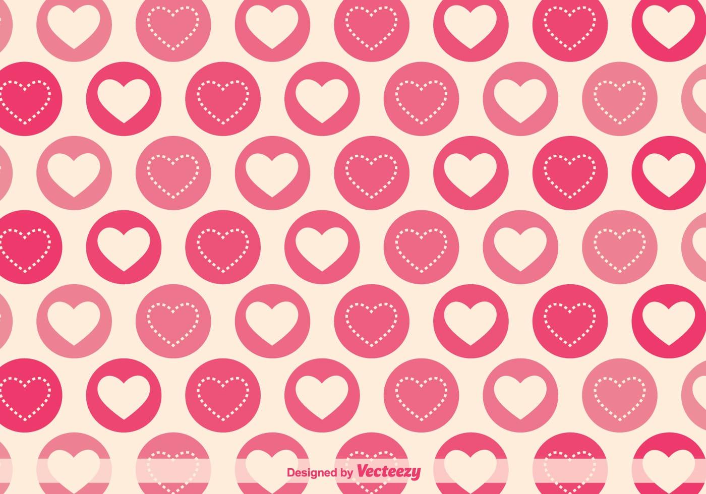 1400x980 Vector Heart Patterns