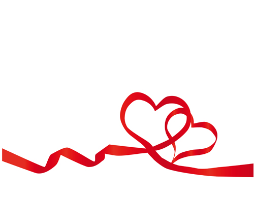 500x388 Creative Heart From Red Ribbon Design Vector 04 Free Download